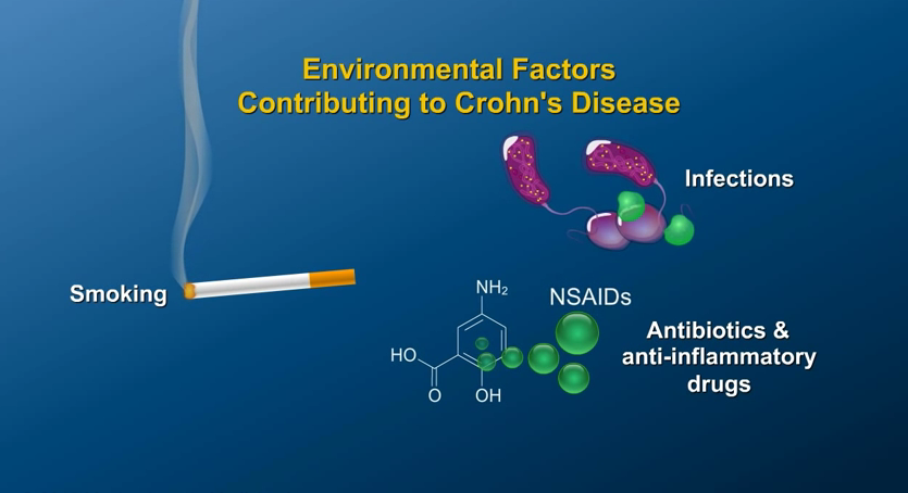 Cause, symptoms, and factors in the development of Crohn's disease